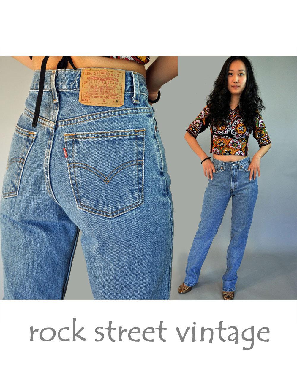 Best Vintage Levis 80s Levi 512 High Waist Jeans / Womens Levi 512s  AG01