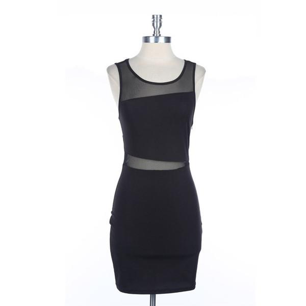 dress sneak peek makeup table vanity row rock vogue mesh sheer little black dress mini fashion little black dress