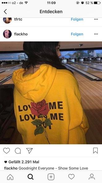 jacket hoodie pullover vintage yellow coat black rose roses red girly girl instagram baddies black hair pretty
