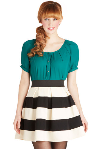 Stripe It Lucky Skirt | Mod Retro Vintage Skirts | ModCloth.com