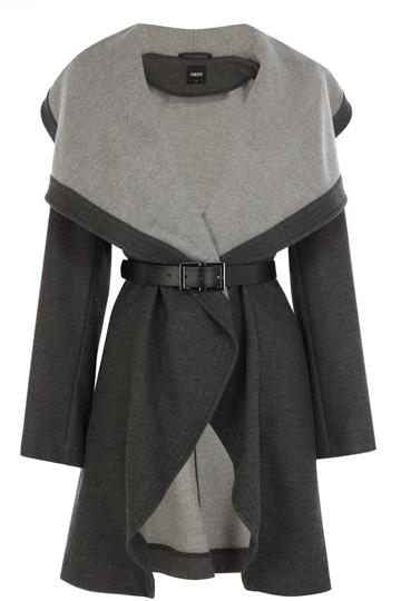 Two Tone Drape Coat | Grey | Oasis Stores