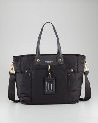 MARC by Marc Jacobs Preppy Nylon Eliz-A-Baby Diaper Bag, Black - Neiman Marcus