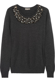 N.Peal Cashmere Embellished cashmere sweater - 44% Off Now at THE OUTNET