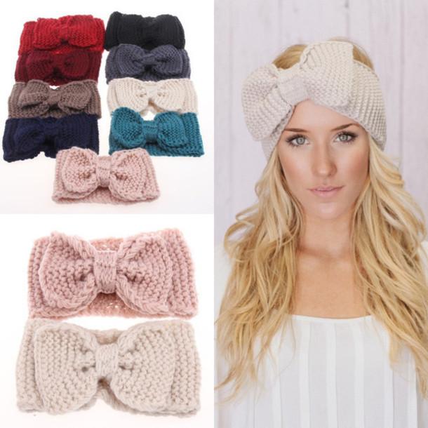 hair accessory knit knit headband bow headband winter accessories