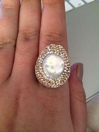 jewels sterling silver pearl pave