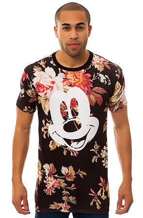 NEFF Tee Mickey Face Cut and Sew in Floral -  Karmaloop.com
