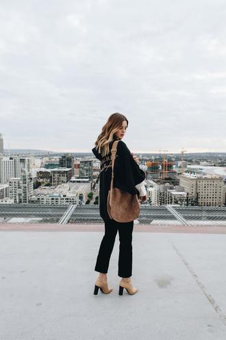 take aim blogger shirt pants shoes bag sunglasses shoulder bag brown bag ankle boots straight pants