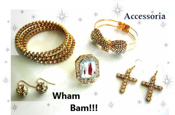 jewels gold jewelry eveningwear bracelets bangle stacked bracelets statement ring ring earrings crosses cross cross earrings crystal rhinestones bow