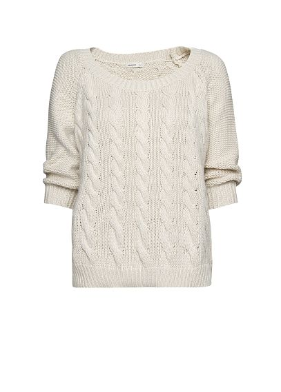 MANGO - NEW - Cotton cable knit jumper