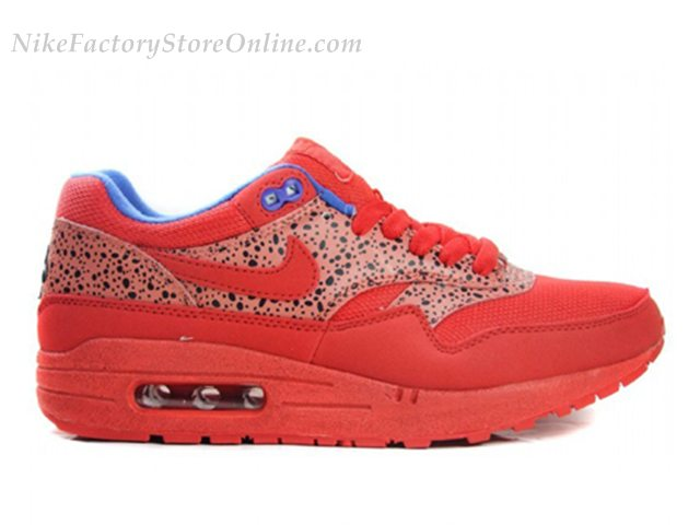 Factory Store Wholesale Nike Wmns Air Max 1 Safari Pack Chilling Red 319986 661