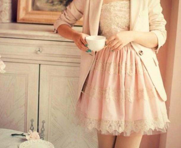 dress vintage salmon dresses classy lace dress