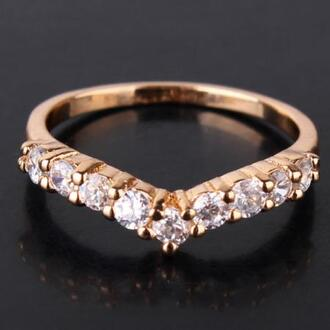jewels ring wing ring heart jewelry crystal band crystal band ring