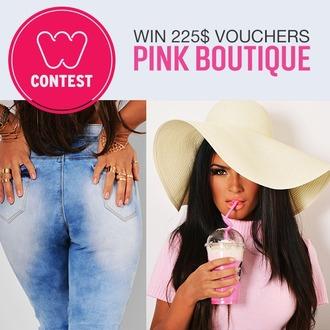 jeans contest fashionista trendy fashion dress pink hat bag blouse tank top coat jewels home accessory shoes jumpsuit underwear leggings