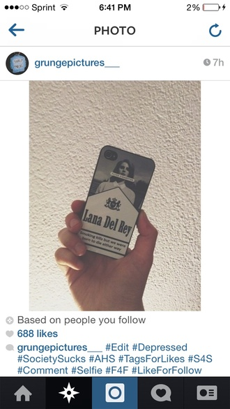 phone cover lana del rey black and white born to die paradise edition cigarrete case iphone case