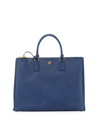 Prada Saffiano Large Executive Tote Bag, Blue - Neiman Marcus
