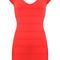 Cap sleeve halter dress red n003r:buy at sheinside