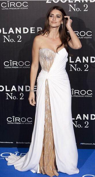 dress bustier bustier dress penelope cruz gown prom dress wedding dress