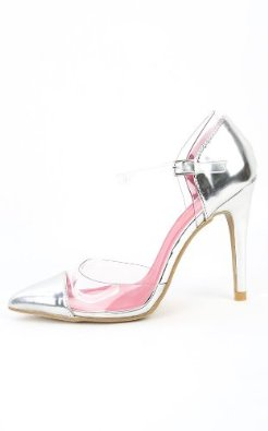 Amazon.com: Shoe Republic Blandon Black Red Blue Gold Silver Pointy Clear Pumps: Shoes