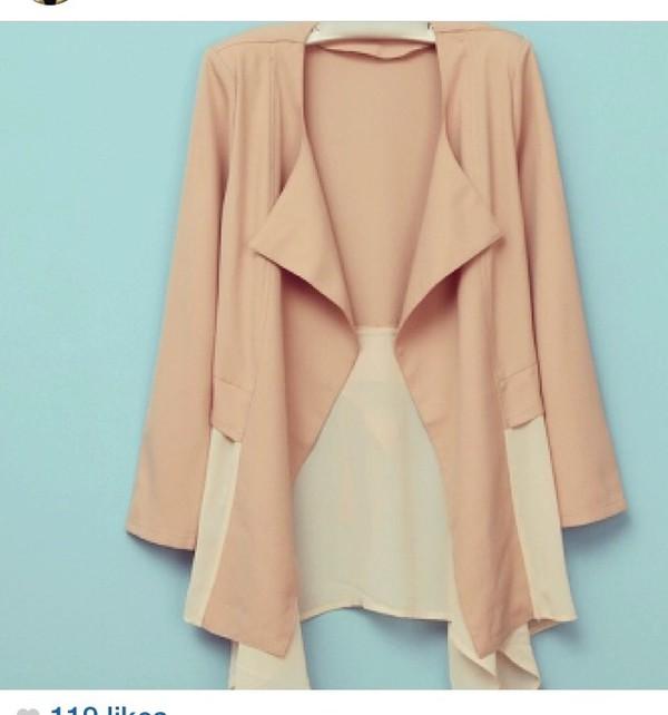 cardigan dress coat blouse nude