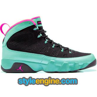 shoes air jordan 9 black south beach black south beach air jordan jordans air jordan 9