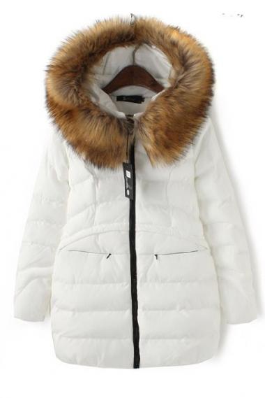Fur Hat Collar Coats Outerwear