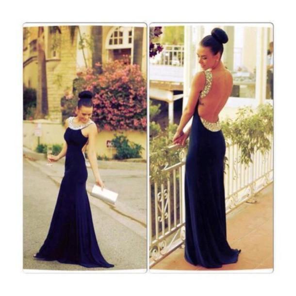 dress blue prom dress black prom dress backless dress prom dress