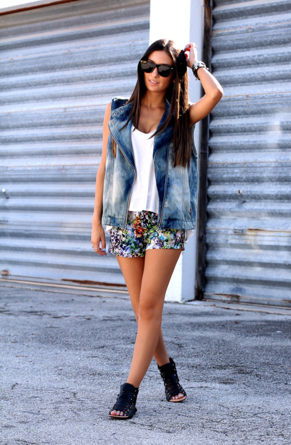 the material girl jacket top shoes sunglasses shorts