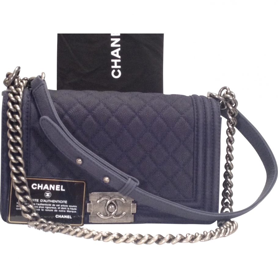 Boy CHANEL Blue in Leather All seasons - 872465