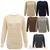 NEW LADIES CHUNKY KNITTED CABLE CROCHET WOMENS KNIT JUMPER STRETCH SWEATER TOP | eBay