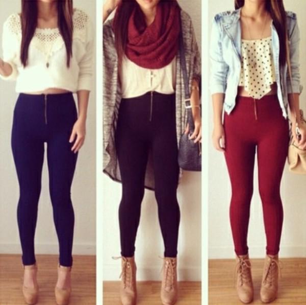 cardigan shoes scarf pants tank top blouse