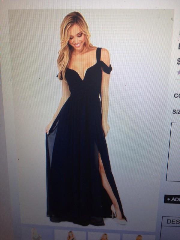 dress maxi dress prom dress bariano bariano ocean of elegance navy blue maxi dress black