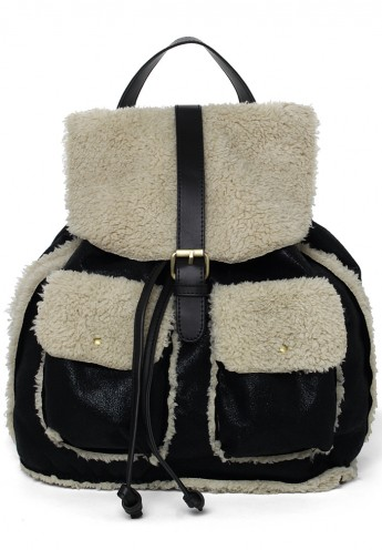 Faux Shearing Backpack  - Retro, Indie and Unique Fashion