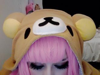 bear hat kawaii hat