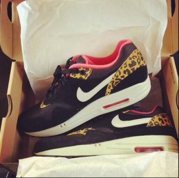 shoes leopard print nike air max 1