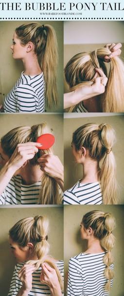 barefoot blonde blogger ponytail hairstyles