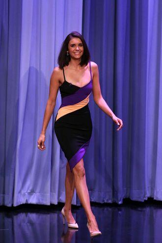 dress asymmetrical asymmetrical dress nina dobrev pumps