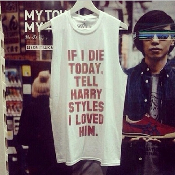 tank top harry styles one direction tank top