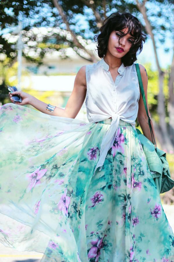 instinto de vestir skirt sunglasses bag shoes shirt