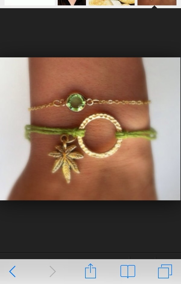 jewels marijuana green bracelets reef maryjane cute 420