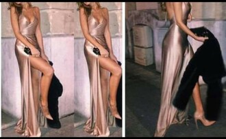 dress satin dress nude dress nude prom dress prom gown gown satin low back dress low v neck dress