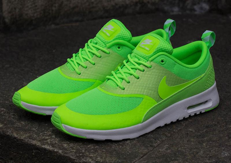 Nike Air Max Thea Femme Chaussure fluo vert : 2014 Nike Air Max Thea pas cher femme et homme soldes france,vente enligne,65% de rabais!