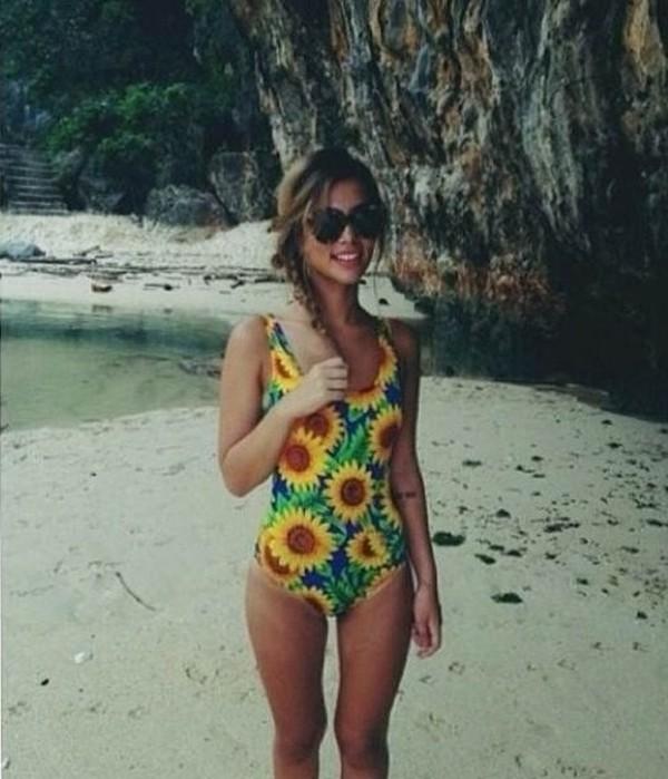 swimwear sunflower swimwear sunflower full piece print swimwear printed one piece swimsuit floral swimwear