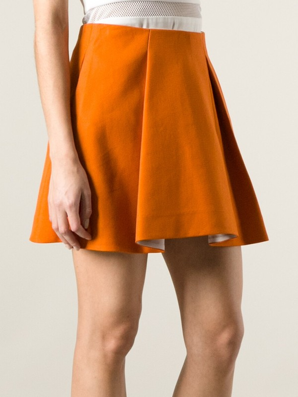 skirt plated skirt orange skirt a-line skirt 3.1 phillip lim
