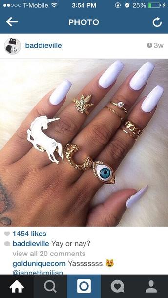jewels unicorn ring pastel soft grunge