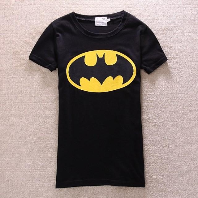Free Shipping 2013 new fashion plus size t shirt women clothing  cute tops Animal cartoon Batman  couple  shirt   Wholesale on Aliexpress.com