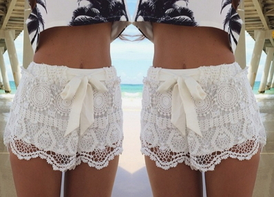 Summer Lace Shorts - Juicy Wardrobe
