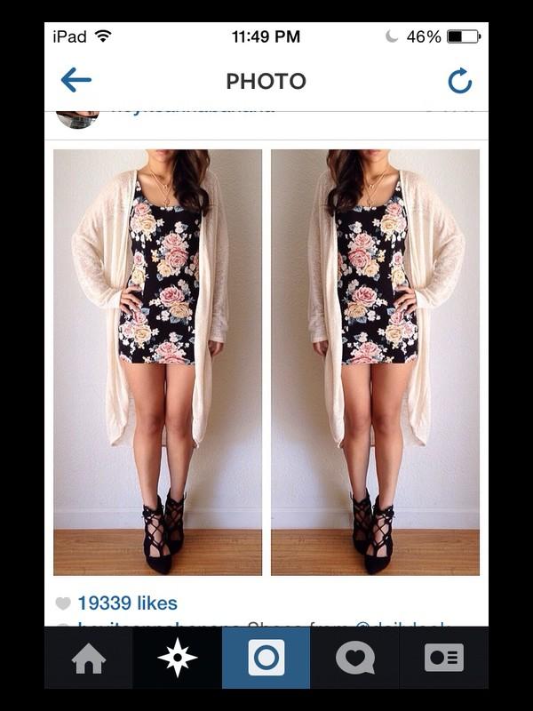 dress floral cardigan cute cute dress summer dress coat