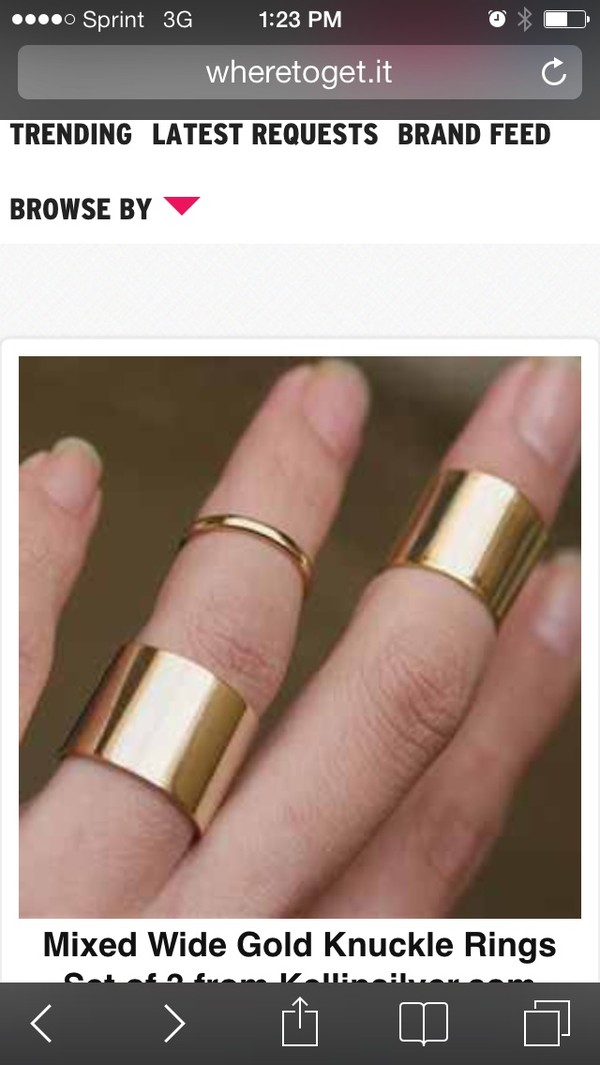 jewels stackable knuckle ring gold band