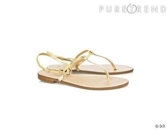 sandales open sandals or gold nu-pieds yellow shoes shoes gold flat sandals