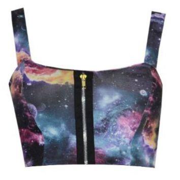 Amazon.com: Womens Galaxy Zip Bralet Bra Top: Clothing on Wanelo